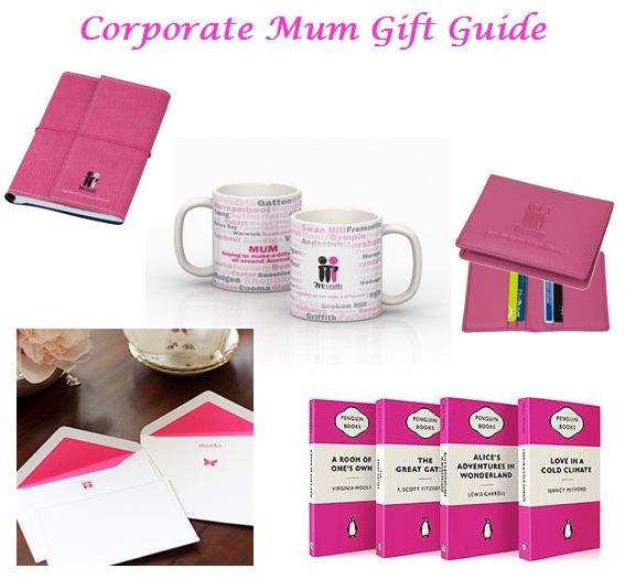 Need a gift to give your working mum? Pick a few items from our Corporate Mum Gift Guide! It includes a an Eco-friendly A6 size notebook ($12.95) for mum to use at work, a French Navy pink boxed stationery set ($45), a customized mug ($19.95), a Pink Penguin book ($9.95) for her commute, and a pink card holder ($29.95) for your mum to pink out her plastic! Choose a few to give to mum! http://shoppink.mcgrathfoundation.com.au/