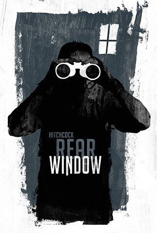 Rear Window: Laz Marquez, Posters Design, Alfred Hitchcock, Rear Window, Windows, Film Posters, Window Posters, Minimal Movie Posters, Rearwindow