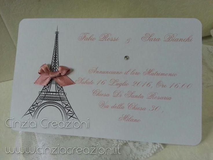 Partecipazione Matrimonio Parigi