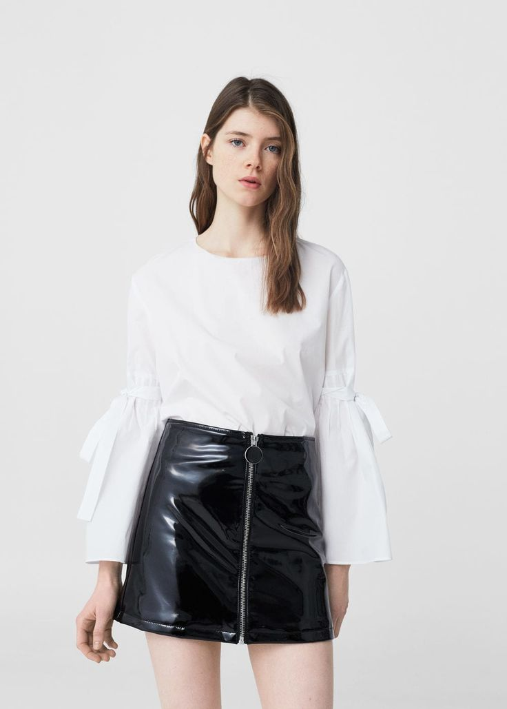 Falda vinilo - Faldas de Mujer | MANGO España