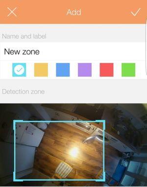 Mit Motion Zones weisen Sie der Sengled Snap Aufzeichnungsbereiche zu.
