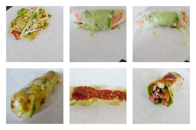 Het recept voor de traditionele Vietnamese loempia's; gezonde rijst loempia's gemaakt van rijstpapier met groenten zonder te frituren of uit de oven.