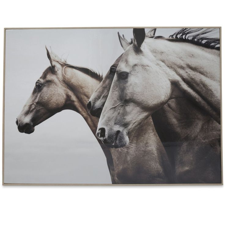 Wild Horses Wooden Framed Wall Art $290.90