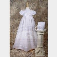 Wish   Baby Girls White Organza Ribbon Christening Baptism Dress Gown 3-12M (Size: 0-3m, Color: Multicolor)