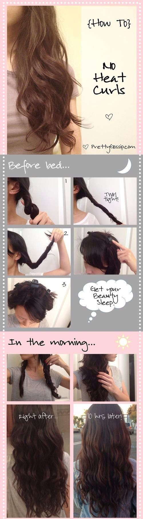 Curl your hair without the heat