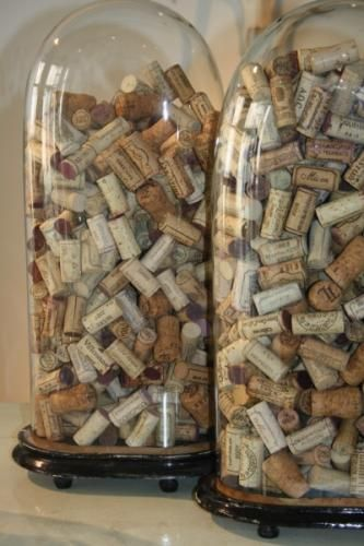 corks: Glasses Container, Belle Jars, Wine Glasses Display, Wine Corks Art, Glasses Domes, Wine Bottle Corks, Cool Ideas, Storage Ideas, Old Wine Bottle