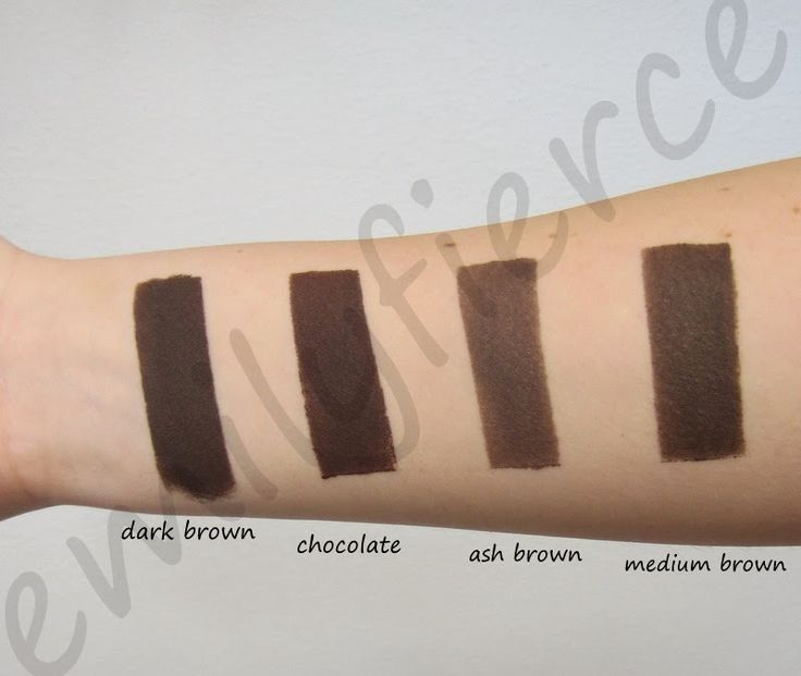 """Dark brown and ash brown are cool toned, chocolate is warm and medium brown is neutral in my opinion."" / Anastasia Beverly Hills Dipbrow Pomade Browns"