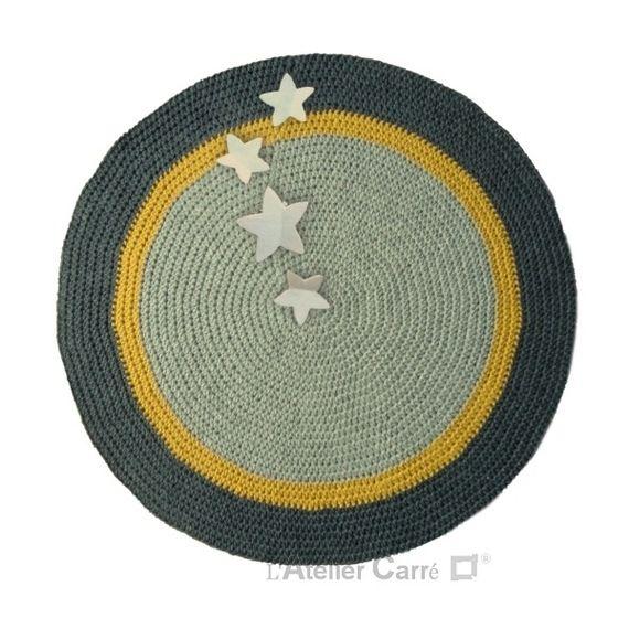 tapis rond antidrapant gris clair jaune gris fonc - Tapis Rond Color
