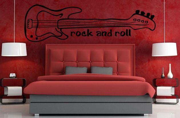 Vinilo decorativo guitarra eléctrica para los amantes del rock & roll