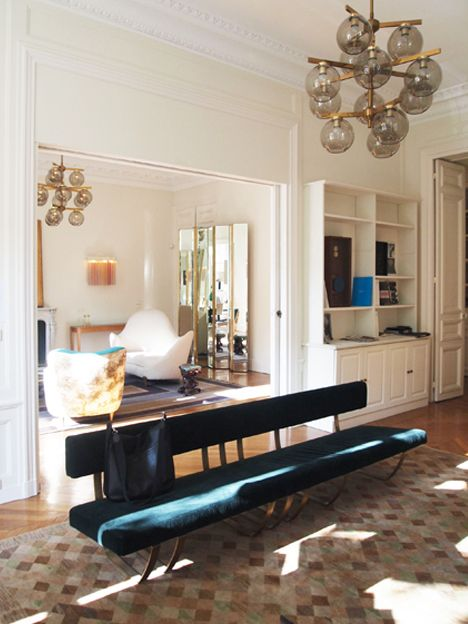 Dimore Studio, Nina Yashar from Nilufar Gallery , and art gallery Balice Hertling, working together in a Parisian apartment