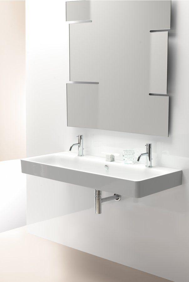 SAND keramické umyvadlo 120x50 cm, bílá, 2 OTVORY, SAPHO E-shop