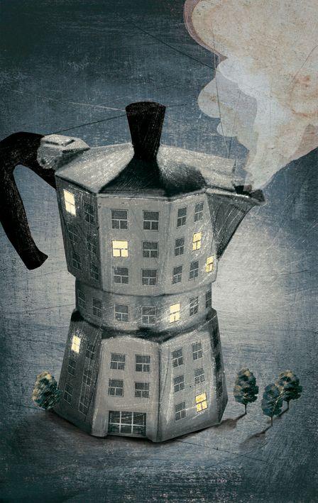 137-illustrazione_bialetti.jpg (448×709) Coffee | コーヒー | Café | Caffè | кофе | Kaffe | Kō hī | Java |