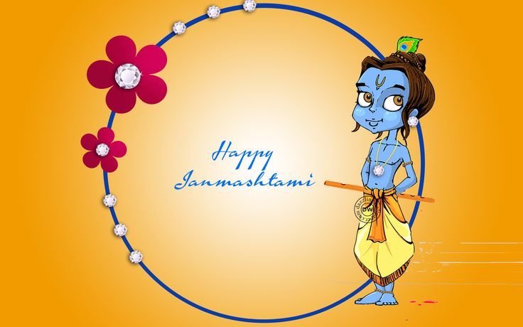 happy Janmashtami HD Wallpaper  Happy, Janmashtami, Wishes, Greetings, Thoughts, Sayings, Shlok, Lord Krishna, Krishna Janmashtami, Happy Birthday Krishna, Flute, Matuki, Wallpapers, Images, Pictures, Photos