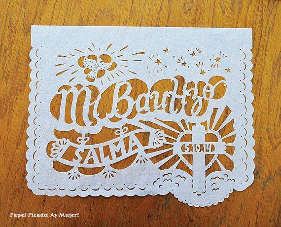 Mi Bautizo Baptism Christening Personalized Garland