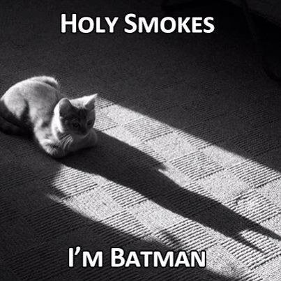 This is why no believes that I'm batman. They don't see my shadow! Right?