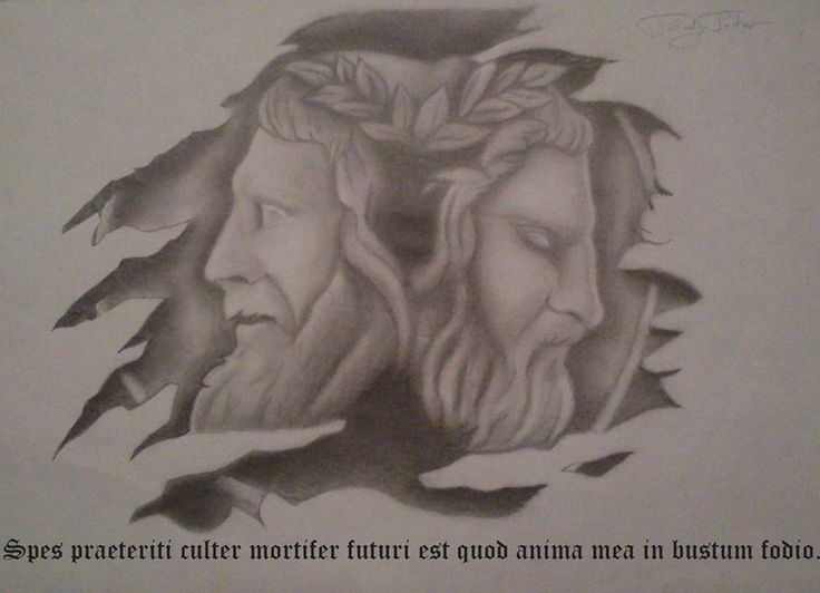 Iannus/Janus/Life/Past/Future/Drawing