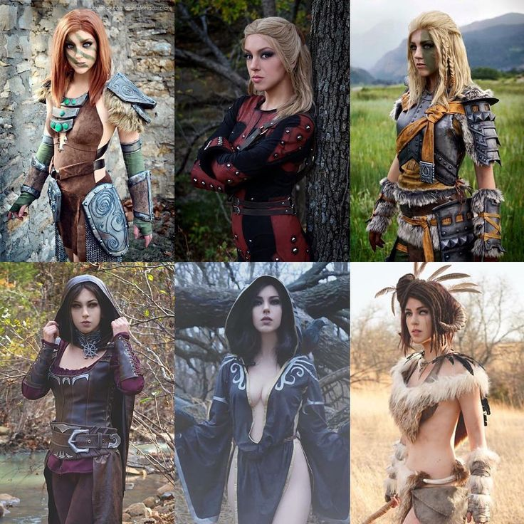 Just wanted to let everyone know that I've done 6 Skyrim cosplays, lol! Serana was made by @yelainamaycosplay but all the rest were made by me! More Elder Scrolls costumes coming THIS SUMMER I WILL NEVER STOP L-r, t-b: Aela the Huntress, Astrid, Mjoll the Lioness, Serana, Nocturnal, and Forsworn armor. All photos by Mr April and edited by me @bethesdasoftworks #bethesda #bethesdasoftworks #skyrim #elderscrolls #aela #forsworn #serana #vampire #dragonborn #tesv #skyrimcosplay #cosplay…