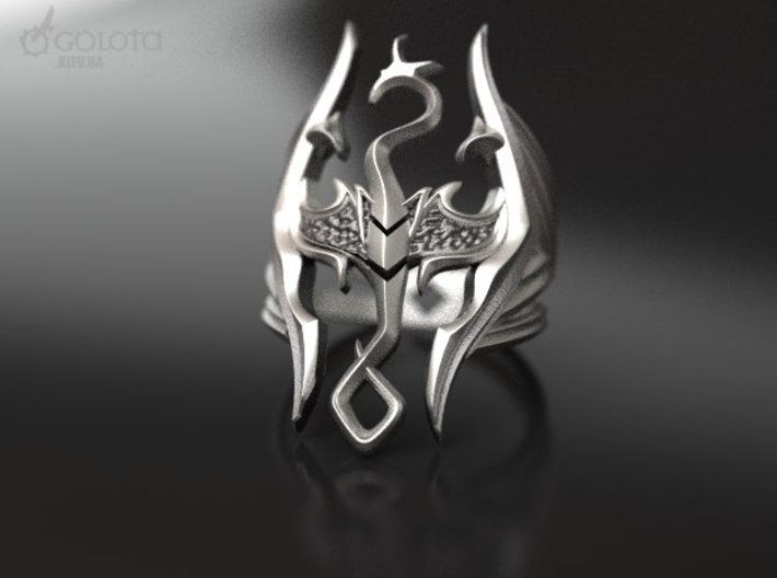 Skyrim Gothic Ring By Ivangolota On Gothic Rings Cool Rings For Men Gothic Wedding Rings
