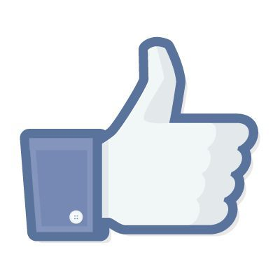 Facebook Like vector logo free .
