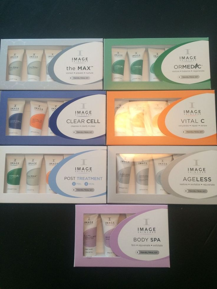 IMAGE SKINCARE travel kits Vital C Ageless Ormedic Body Spa Max Clear Cell Post