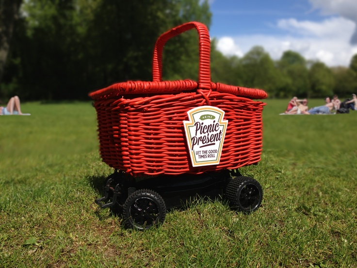 Our very own remote-controlled Picnic basket, infamous for surprising picnic goers! #picnic