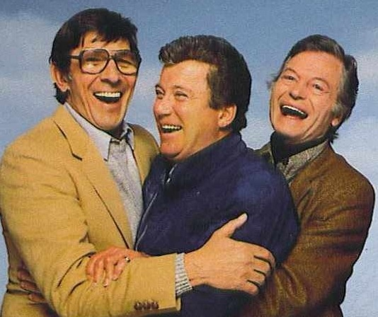 Leonard Nimoy, William Shatner, and DeForest Kelley. This picture = awesome sauce!