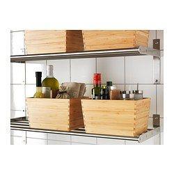 IKEA - VARIERA, Kasten mit Griff, Erleichtert Übersicht und Zugriff auf Lebensmittel und anderes in Schubladen.