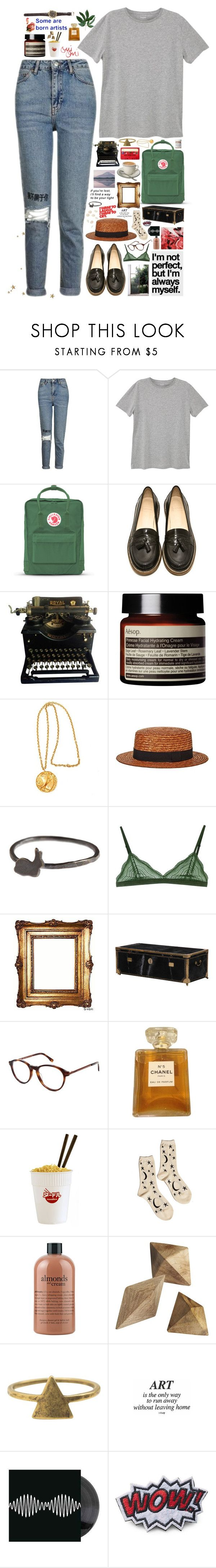 """""""WE'RE RUNNING THROUGH THE GARDEN WHERE NOTHING BOTHERED US"""" by kappucino ❤ liked on Polyvore featuring Topshop, MANGO MAN, Fjällräven, B Store, Aesop, Nasty Gal, D'Argent, Cosabella, Lacoste and French Girl"""