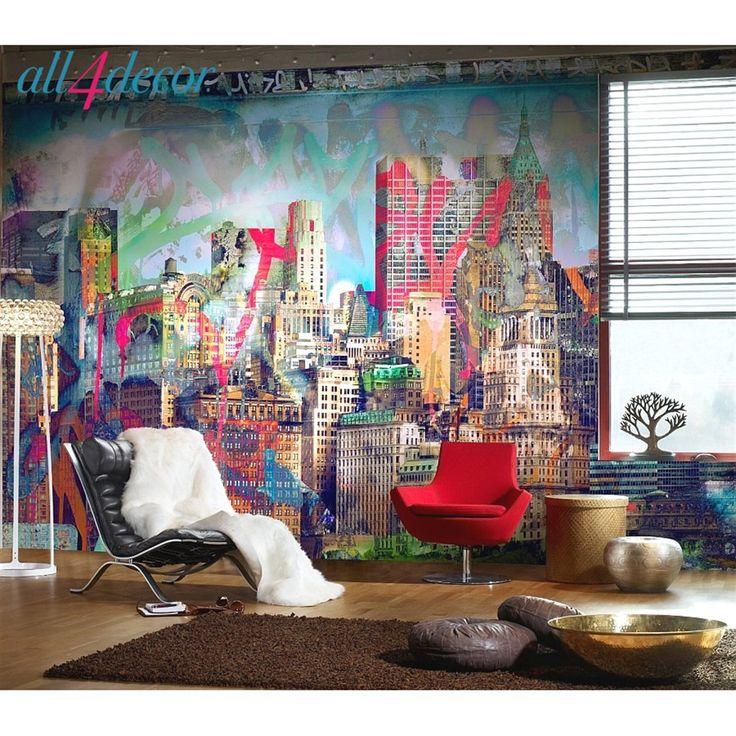 Вот несколько советов, которые помогут оформить интерьер в стиле граффити правильно. Вначале определитесь, где будет уместен рисунок. Его можно использовать практически в любом помещении: от прихожей до спальной комнаты. Затем выберите изображение, здесь важно помнить, что цвет должен гармонировать с общим дизайном комнаты, а размер граффити соответствовать ее размерам. #Furniture #Lighting #Loft #Design studio #Interior design