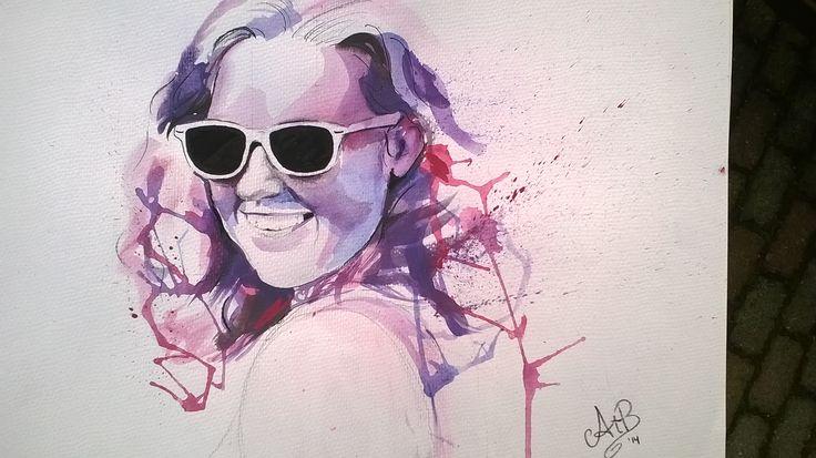 waterpaint portrait - my sister - AtB 2014 https://www.facebook.com/pages/AstridtenBosch-Art/562052023904627