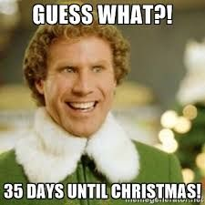 Image result for 35 days till christmas