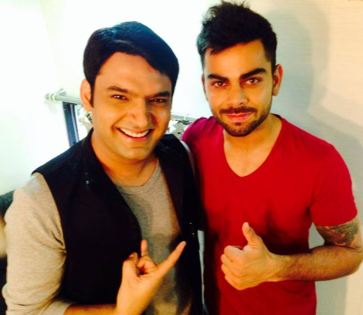 VIRAT KOHLI with kapil sharma