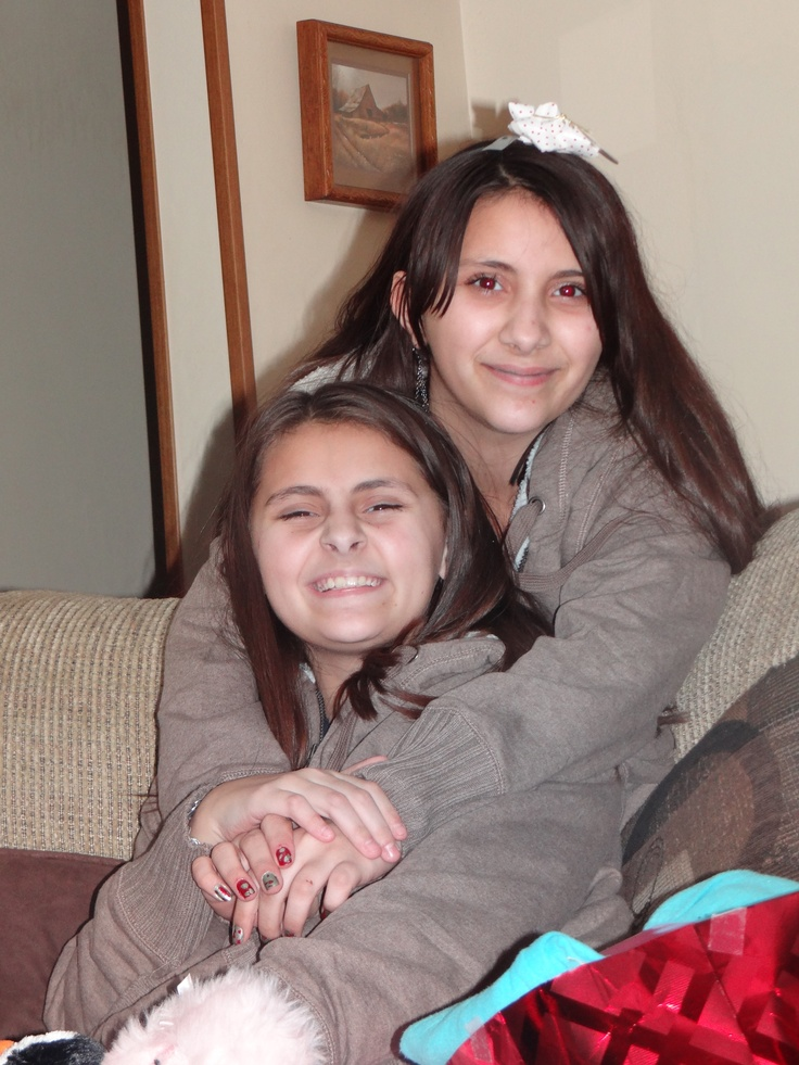 Tatyanna and Brianna very close cousins and my beautiful granddaughters.
