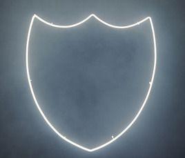 // David LynchDom Pérignon, Champagne, Crest Shields, Neon, Families Crest, David Lynch, Shape, Crest Lights, Dom Lynch2 Jpg