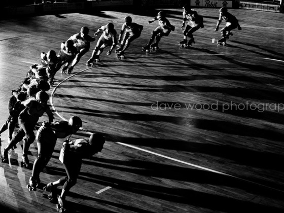 Photography Exhibit: The Art of Roller Derby Photography by Dave Wood, via Kickstarter.