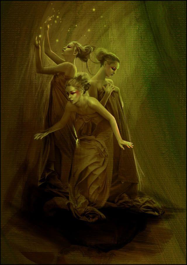Aglaea (Splendor), Euphrosyne (Mirth) And Thalia (Good