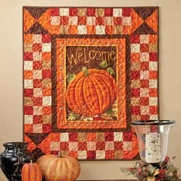 Give Thanks Wall Hanging KitWelcome Wall Quilt, Wall Hangings, Thanksgiving Wallhangings, Halloween Quilt, Kits Clothilde Com, Thanksgiving Quilt, Easter Quilt, Hanging Kits Th, Quilt Pattern