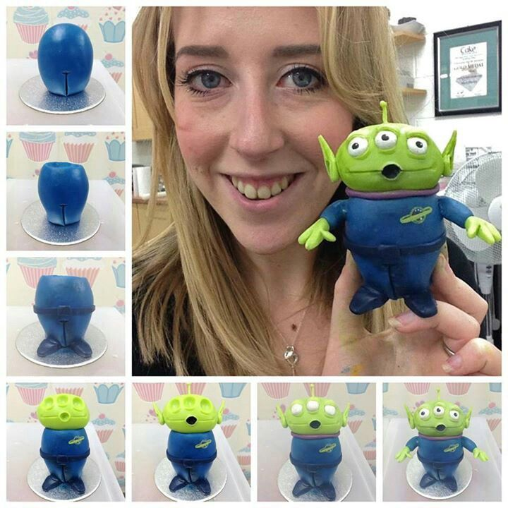 Toy Story Gum : Alien picture tutorial cake toppers and tutorials