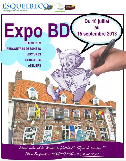 Exposition Bande dessinée. Du 16 juillet au 15 septembre 2013 à ESQUELBECQ.