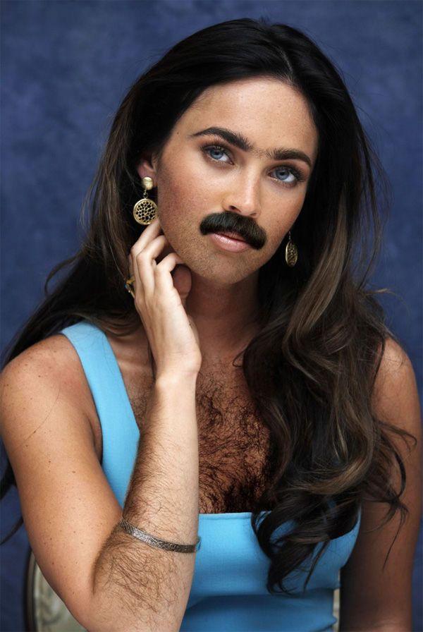Female celebrities with beards