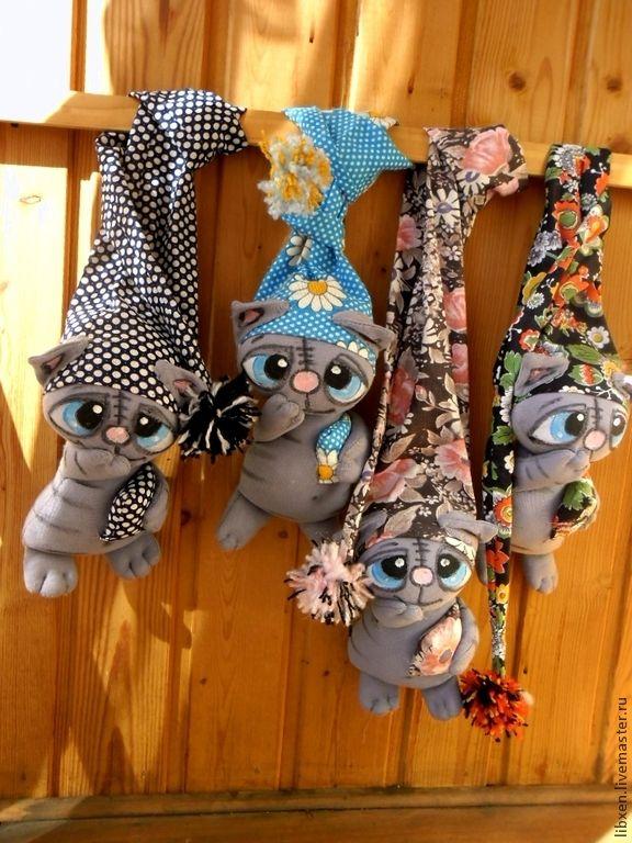 Купить коты УСНОКОТОЙСЯ - кот, коты, игрушка кот, колпак, яркий, подарок, котейка, разноцветный