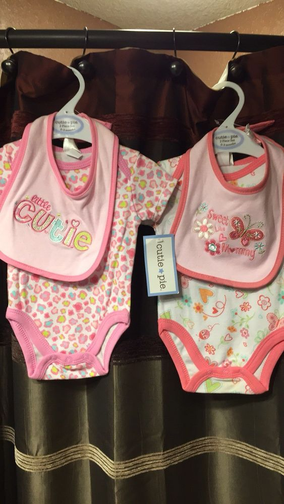 Girls' Clothing (newborn-5t) Baby Girl 6-piece Lot Clothing Size 3 Months 4 Outfits Rompers Shirts Pants