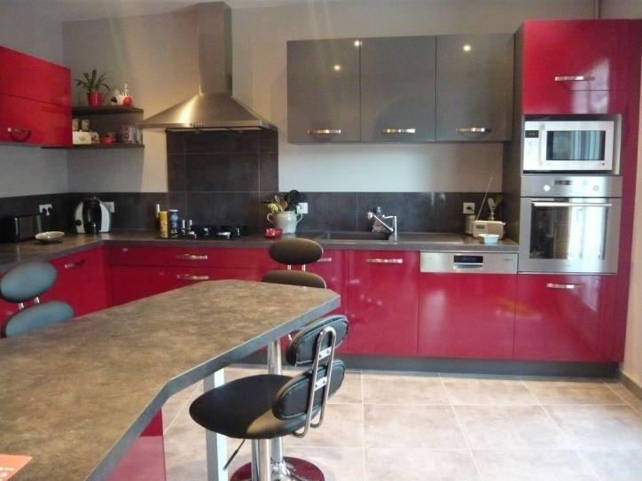 New Meilleur Awesome En plus de Interesting Cuisine Rouge Plan De - plan de travail cuisine rouge