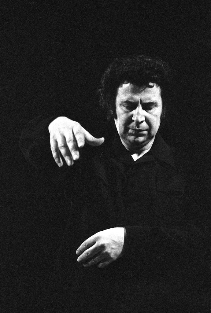 Mikis Theodorakis (1925) - Greek songwriter and composer. Photo © Jacques Revon