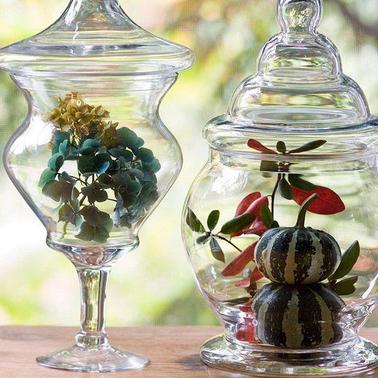 Love the Hydrangea in glass