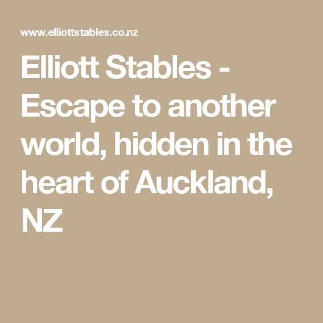 Elliott Stables - Escape to another world, hidden in the heart of Auckland, NZ