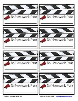 Free Hollywood No Homework Passes