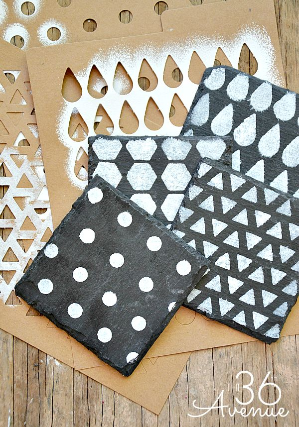 Super easy DIY Coasters Tutorial at the36thavenue.com These would make great gifts! #tutorial