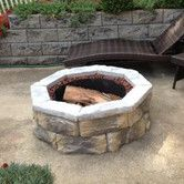 Found it at Wayfair - Fossill Stone Fire Pit Kit
