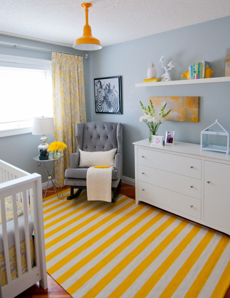 Gray Blue Yellow Bedroom 477 best yellow baby rooms images on pinterest | nursery ideas